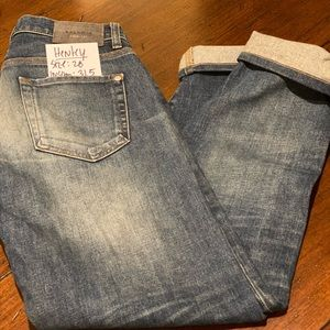 Baldwin Denim Jeans-Henley. Slim. Size 28